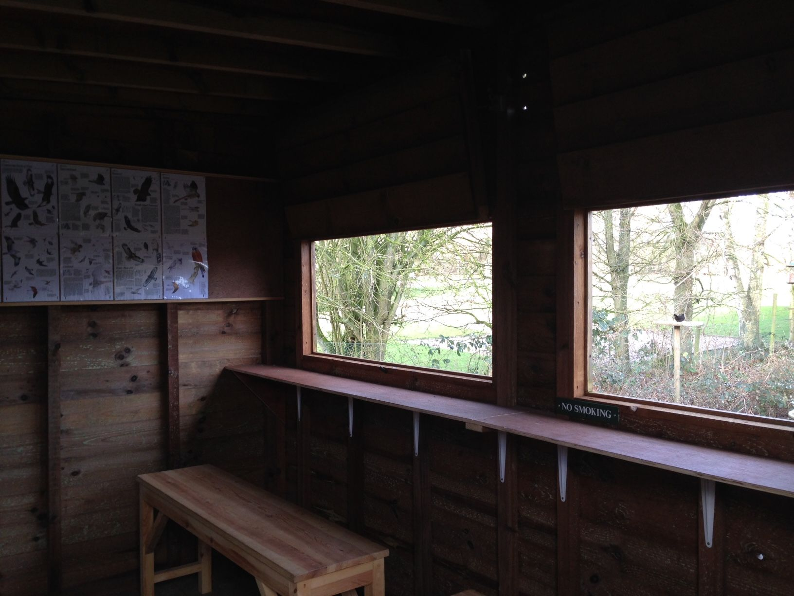 bird hide at old brick kilns caravan and camping park norfolk