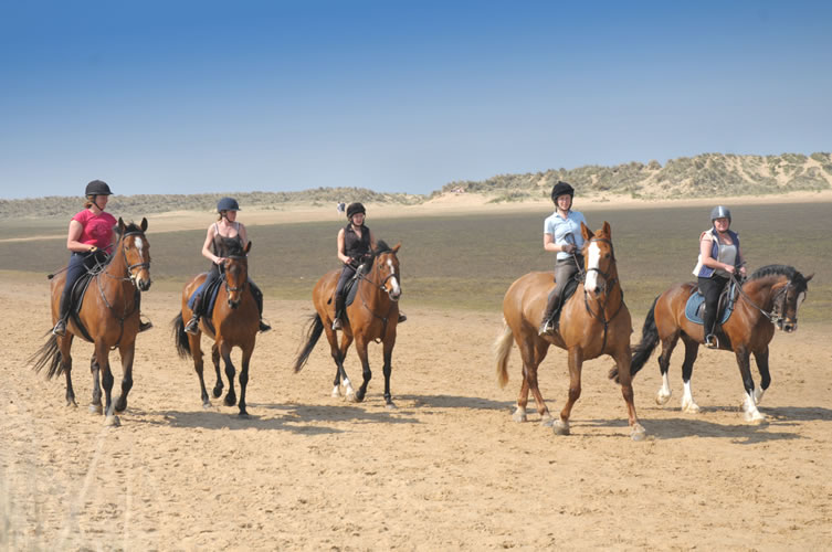 Horse riding at Holkham